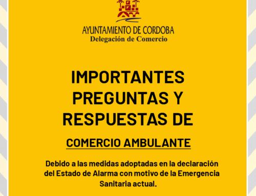 Preguntas frecuentes sobre los procedimientos de Venta Ambulante por el Estado de Alarma