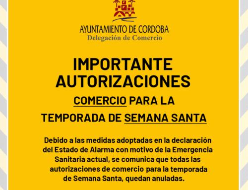 Anuladas las autorizaciones de Venta de Semana Santa por Estado de Alarma