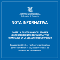 suspension de plazos