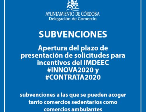 Subvenciones del IMDEEC a las que se pueden acoger comercios sedentarios y comercios ambulantes