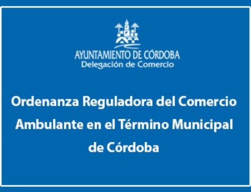Ordenanza Reguladora del Comercio Ambulante en el Término Municipal de Córdoba