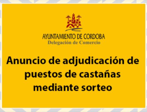 ANUNCIO DE ADJUDICACIÓN DE PUESTOS DE CASTAÑAS MEDIANTE SORTEO