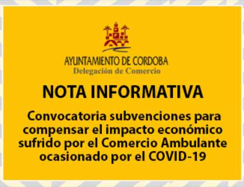 Convocatoria subvenciones para compensar el impacto económico sufrido por el Comercio Ambulante ocasionado por el COVID-19
