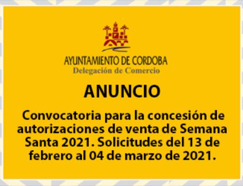 Convocatoria para la concesión de autorizaciones de venta de Semana Santa 2021