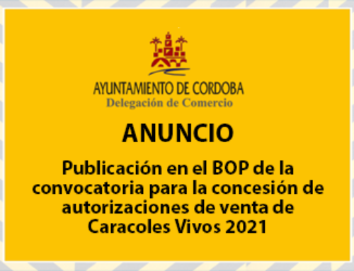 Publicación en el BOP de la convocatoria para la concesión de autorizaciones de venta de Caracoles Vivos 2021