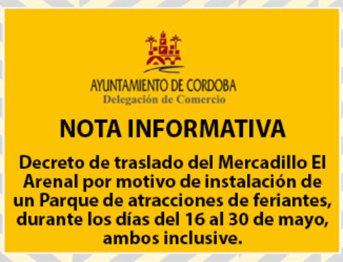 Decreto de traslado del Mercadillo El Arenal