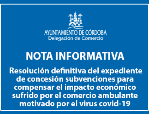 Resolución definitiva en el expediente de concesión subvenciones para compensar el impacto económico sufrido por el comercio ambulante motivado por el virus covid-19